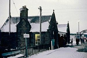 Newtonmore railway station - Image: Scotland Newtonmore Station