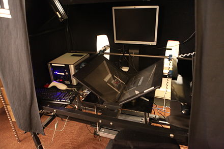 "Internet Archive ""Scribe"" book scanning workstation Scribe Machine Acquisition 3.jpg"