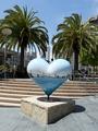Sculpture, Hearts in San Francisco public art installation, Union Square, San Francisco, California LCCN2013630150.tif