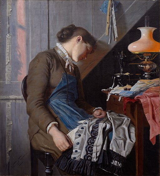 Seamstress, Whitsunday morning, by Wenzel Tornoe
