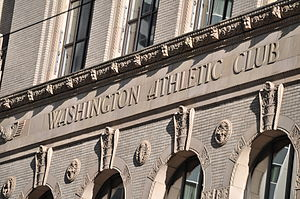 Washington Athletic Club - View of details on north facade