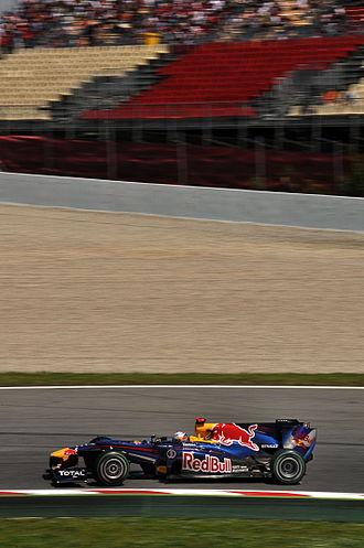 2010 Spanish Grand Prix - Sebastian Vettel qualified second, but dropped to third place in the race due to brake problems.