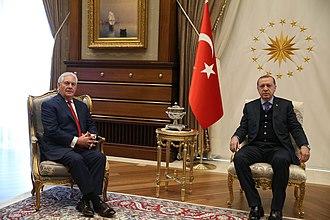 Presidential Seal of Turkey - Image: Secretary Tillerson Meets With Turkish President Erdogan in Ankara (32921677733)