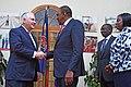 Secretary Tillerson Shakes Hands With Kenyan President Kenyatta (38904344290).jpg