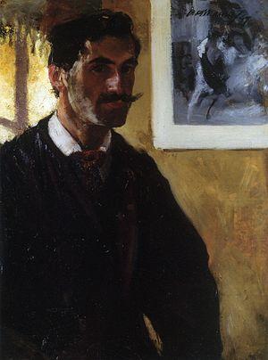 """Alfred Henry Maurer - """"Self portrait"""" (1897)"""