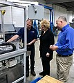 Senator Stabenow at MVB in Three Rivers on her statewide Small Business Tour. (34082593990).jpg