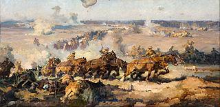 The battle before Villers-Bretonneux, August 8th, 1918