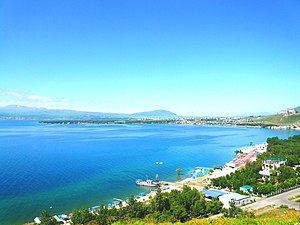 Lake Sevan - Image: Sevan beach