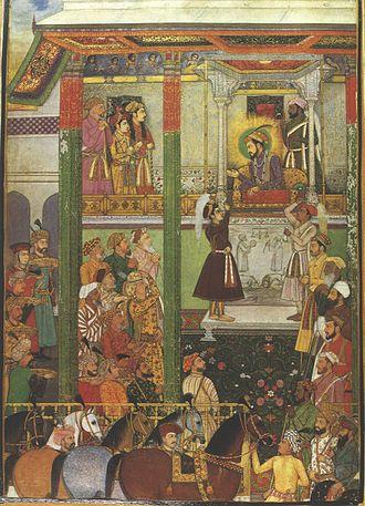 Padshahnama - Image: Shah Jahan Receives Persian Ambassadors