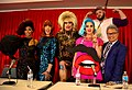 Shangela, Coco Peru, Heklina, Charlie Hides, Alec Mapa (front) Daniel Franzese (back) at RuPaul's Dragcon 2017 by dvsross.jpg