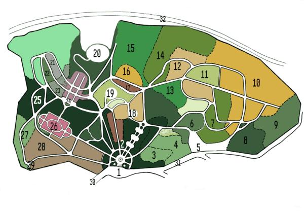 Схема территории: