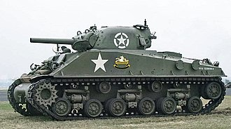 Assault gun - A preserved Sherman M4 (105).