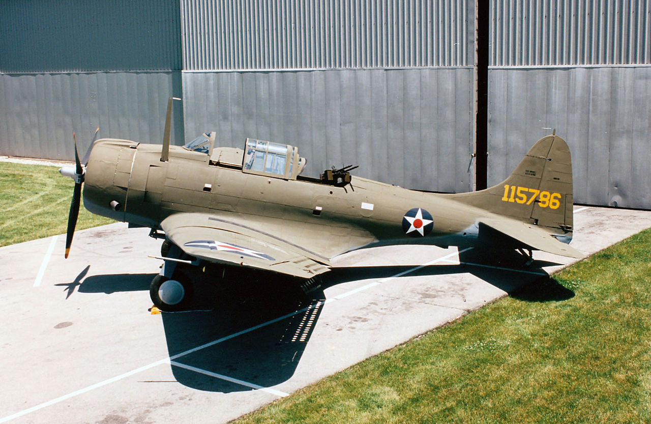 fileside view of us army a24 banshee national museum