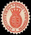 Siegelmarke Adjutantur Seiner Majestät des Königs von Württemberg W0246964.jpg