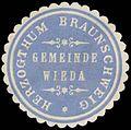 Siegelmarke Gemeinde Wieda H. Braunschweig W0387830.jpg