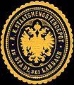 Siegelmarke K.K. Staatshengstendepot in Stadl bei Lambach W0317093.jpg