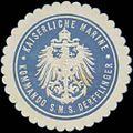 Siegelmarke K. Marine Kommando S.M.S. Derfflinger W0357646.jpg