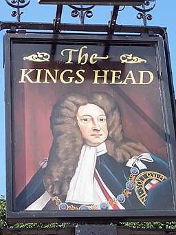 Sign for the Kings Head, Redlynch - geograph.org.uk - 570814