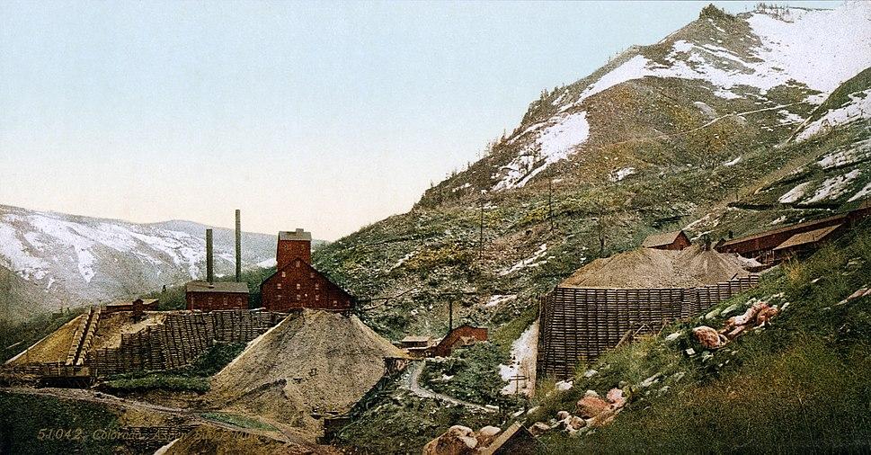 Silver mines, Aspen, Colorado, 1898