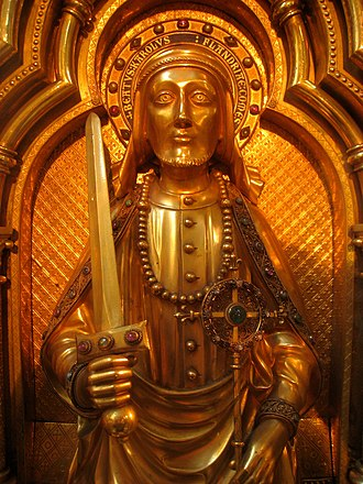 Charles I, Count of Flanders - Image of Charles I on his reliquary in the Sint-Salvatorskathedraal, Bruges, Belgium