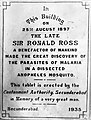 Sir R. Ross; discovery of malaria parasite Wellcome L0011944.jpg