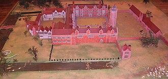Sissinghurst Castle Garden - Model displayed at Sissinghurst depicting Sir Richard Baker's house circa 1560