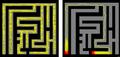 Slime mold solves maze.png