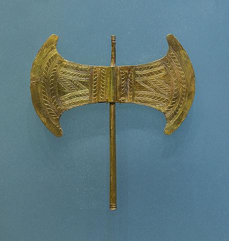 Gold Minoan labrys