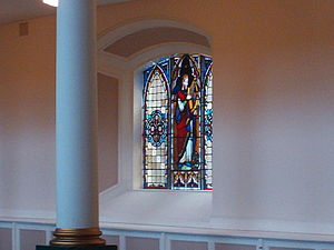 St George's Church, Belfast - A small stained glass window