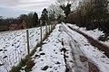 Snowy track past Little Kipperknoll Cottage - geograph.org.uk - 335924.jpg