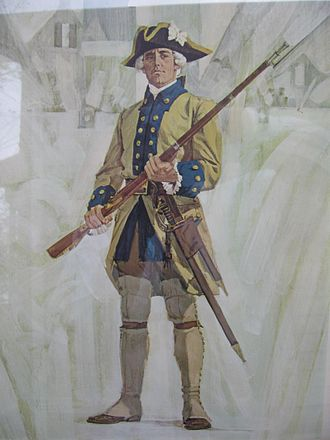 Military of New France - Régiment de Languedoc soldier