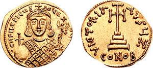 Philippikos Bardanes - A coin of Philippikos