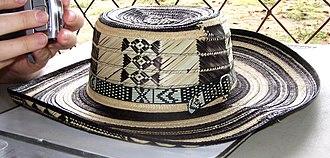 Sombrero vueltiao - Image: Sombrero vueltiao close
