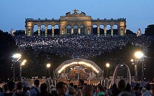 Summer Night Concert Schönbrunn - View from Schönbrunn castle to the stage 2012