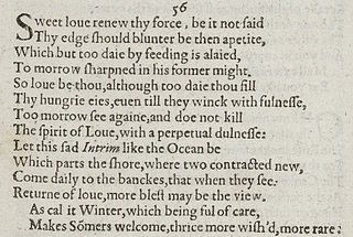 Sonnet 56 poem by William Shakespeare