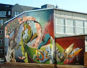 DAIM - Wallpainting by DAIM and other crew-members, Frankfurt (Germany), 1998