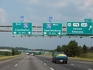 Interstate 77 - Image: Southern terminus of I 77 at I 26 in Columbia, South Carolina