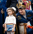 Soyuz TMA-01M Scott Kelly with a local girl in Kustanay, Kazakhstan.jpg