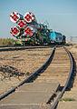 Soyuz TMA-10M spacecraft roll out by train (9).jpg