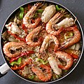 Spanish scampi and meat paella.jpg
