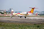 Sparkle Roll Jet Embraer Legacy 650 N688JC Departing from Taipei Songshan Airport 20150221e.jpg