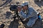 Spc. Kamaris Dickson uses a range finder during MFIX-17.jpg