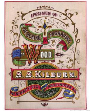 Samuel Smith Kilburn - Image: Specimen of Designing title page by SS Kilburn ca 1865