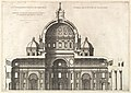 Speculum Romanae Magnificentiae- Longitudinal Section Showing the Interior of Saint Peter's Basilica as Conceived by Michelangelo (Published in 1569) MET DP826754.jpg