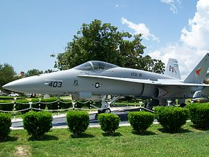 Scott Speicher - F/A-18 Hornet resembling Speicher's aircraft on static display at NAS Pensacola