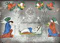 Spiegelhinterglasbild Hl Grab Maria Südböhmen 19Jh.jpg