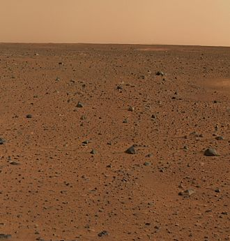 Gusev (Martian crater) - Image: Spirit's First Color Photograph Mars