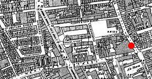 Spitalfields - Ordnance Survey map of Spitalfields rookery, 1894