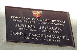 Photo of John Smorthwaite and Jeremy Spurgin brown plaque
