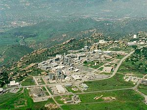 Simi Valley, California - 1990 Aerial view of the Energy Technology Engineering Center at the Santa Susana Field Laboratory, Simi Hills, Simi Valley